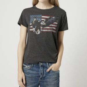 Topshop Project Social T Eagle Flag Graphic Tee